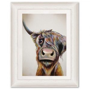 Art Print- Bad Hair Day Highland Cow by Adam Barsby
