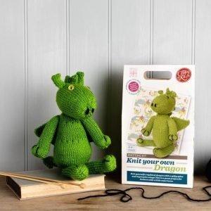 Green Dragon Knitting Kit