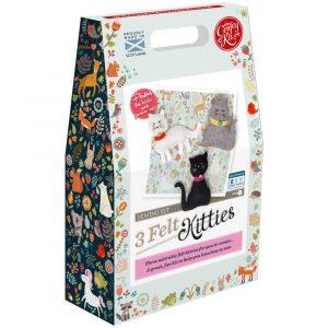 Three Felt Kitties Sewing Kit