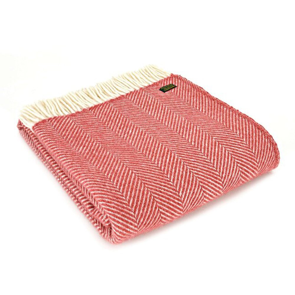 Tweedmill Lifestyle Fishbone Throw in Pure New Wool - Various Colours