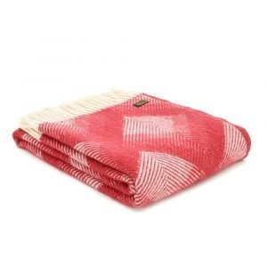 Tweedmill Lifestyle Prism Throw in Pure New Wool - Watermelon