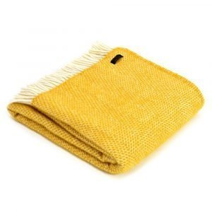 Tweedmill Lifestyle Beehive Throw in Pure New Wool - Various Colours