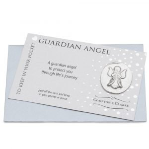 Pewter Pocket Charm Guardian Angel by Compton & Clarke